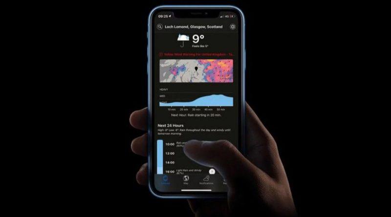 La aplicación meteorológica comprada por Apple, Dark Sky, cerrará sus puertas en 2022
